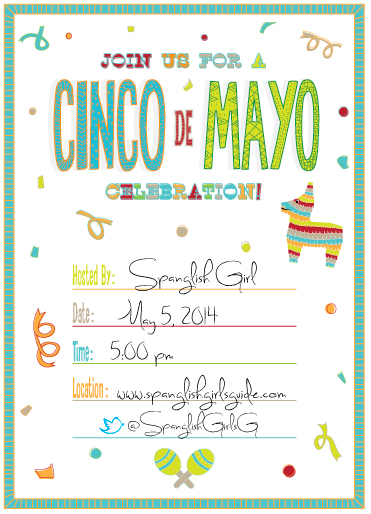free cinco de mayo invitation template spanglish girl