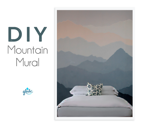 Diy mountain mural the spanglish girls guide for Create a wall mural