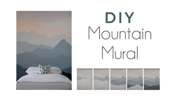 Diy mountain mural the spanglish girls guide for Diy mountain mural